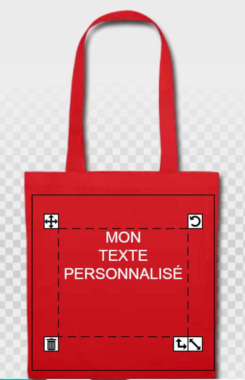 Imprimer son texte sur un tote bag.