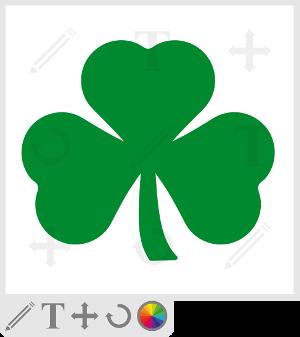 Trèfle emblème de l'Irlande, shamrock vectoriel à personnaliser.